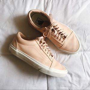 732d8fdc73 Peach Leather Vans